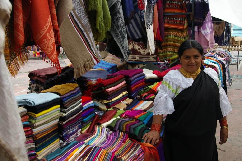 Photo 5.Otavalo handicrafts